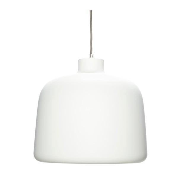 Biała lampa wisząca Hübsch Muno