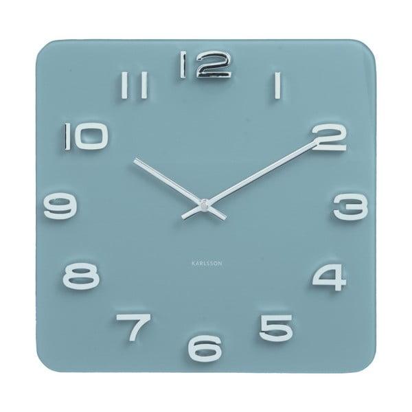 Modré hodiny Karlsson Vintage, 35 x 35 cm