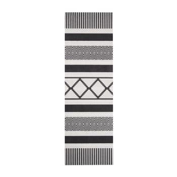 Covor de bucătărie Hanse Home Lineo, 45 x 140 cm, negru - gri imagine