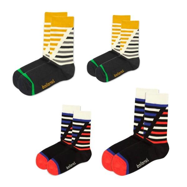 Sada 4 ponožek Love Pack Poker
