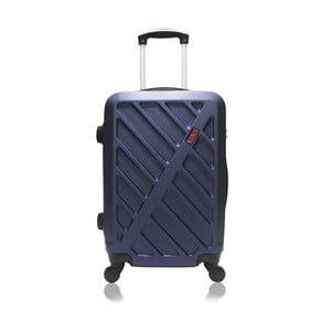 Modrý kufr na kolečkách Hero Lock, 61 l