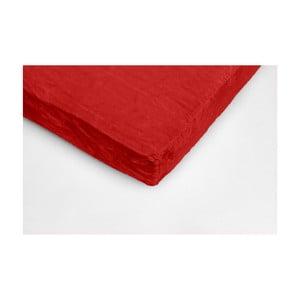 Cearceaf din micropluș My House, 90 x 200 cm, roșu
