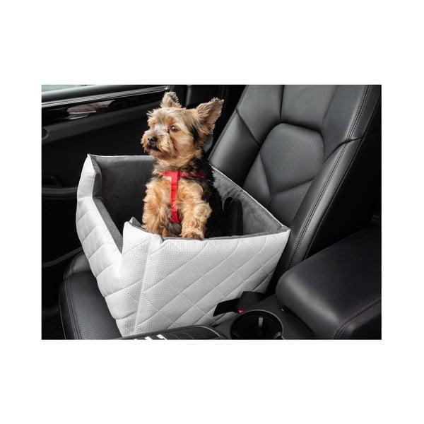 Bílá přepravní taška pro psa do auta Marendog Travel, 50 x 57 x 25 cm