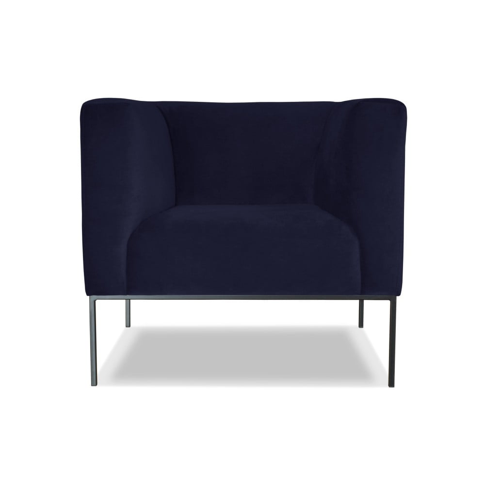 Tmavě modré křeslo Windsor & Co. Sofas Neptune