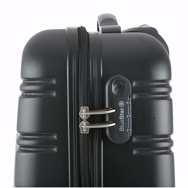 Černý příruční kufr na kolečkách BluestarBilbao, 35l