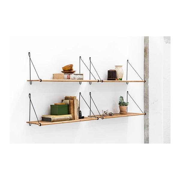 Raft din bambus de perete We Do Wood Loop, maro-negru