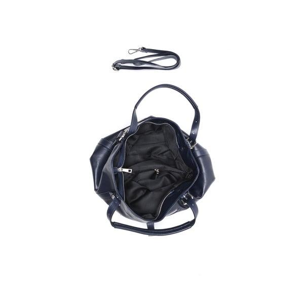 Kožená kabelka Carla Ferreri 2109 Bluscuro