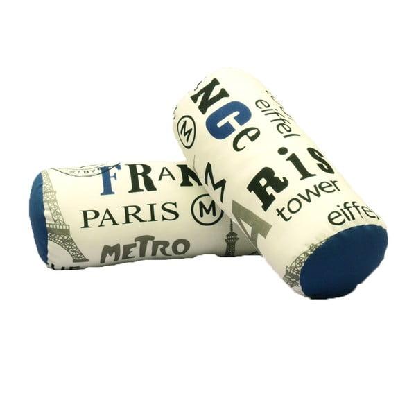 Sada 2 polštářů s modrým detailem 13Casa Paris