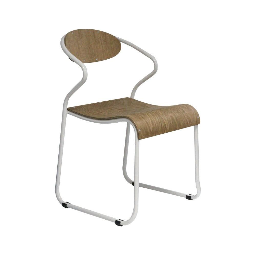 Židle s bílými loketními opěrkami Red Cartel Walter