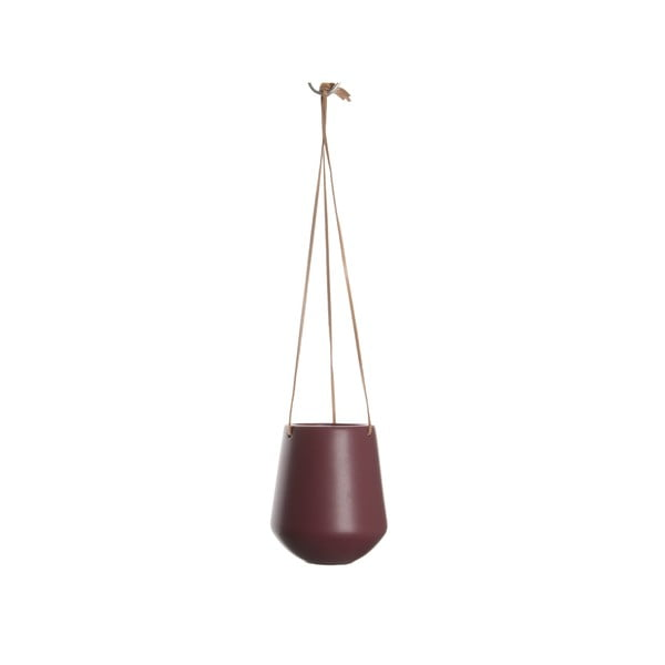 Tmavě červený závěsný květináč PT LIVING Skittle, ⌀13,5cm
