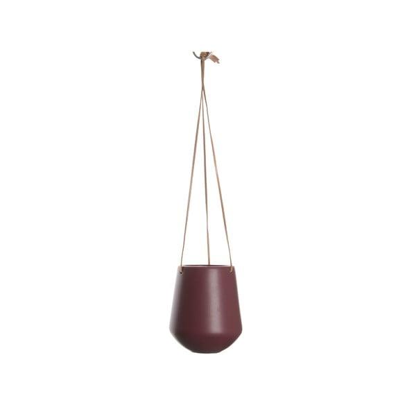 Bordowa doniczka wisząca PT LIVING Skittle, ⌀ 13,5cm