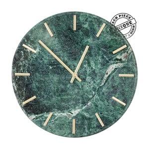 Zelené nástěnné hodiny v efektu mramoru Kare Design Desire
