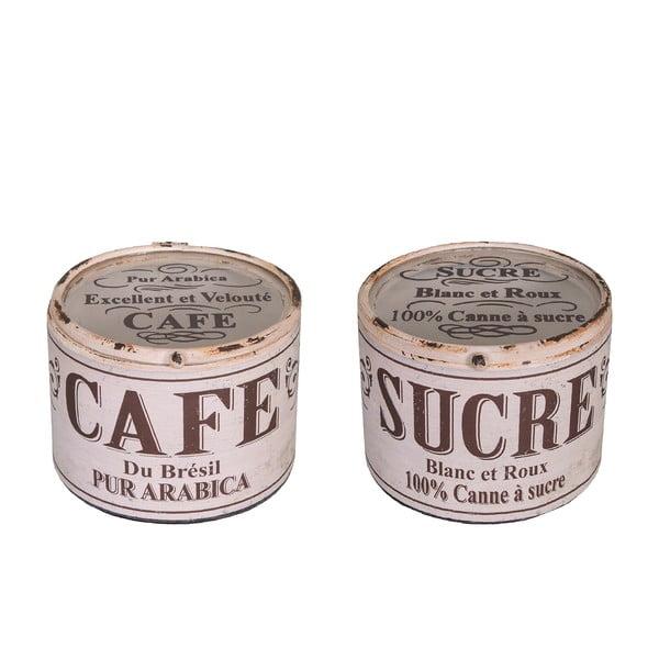 Set 2 recipiente Antic Line Cafe Sucre