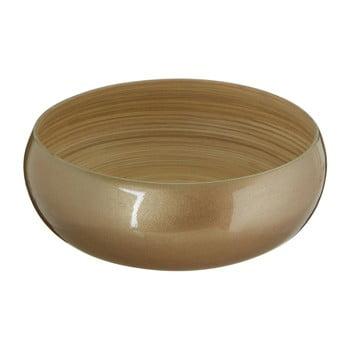 Bol din bambus Premier Housewares, ⌀ 30 cm, auriu