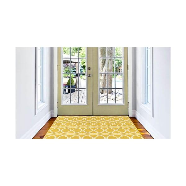 Covor foarte rezistent Floorita Interlaced, 160x230cm, galben