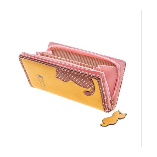 Velká peněženka Languo Cat, žlutá