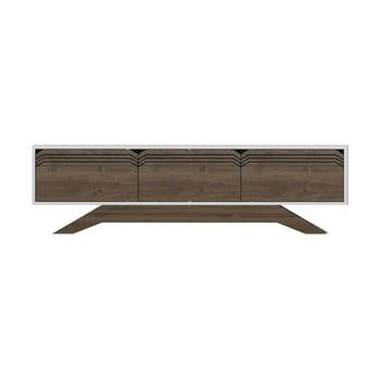 Comodă TV cu aspect de lemn de nuc Zena Home Piyar, natural-alb