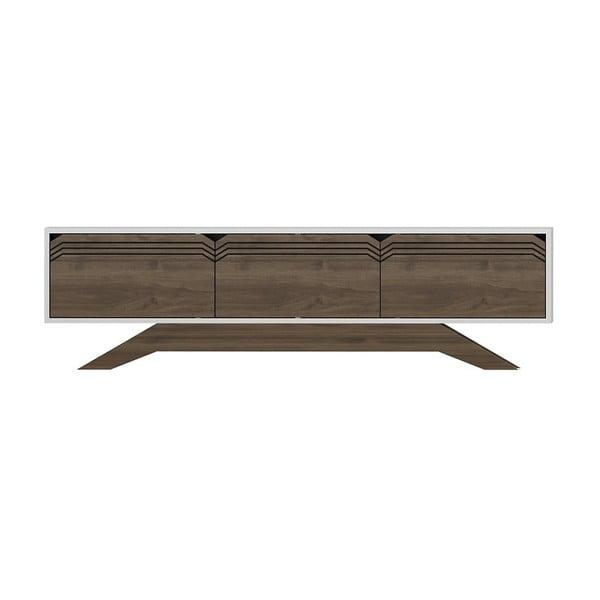 TV stolík v dekore orechového dreva s bielymi detailmi Piyar White Walnut