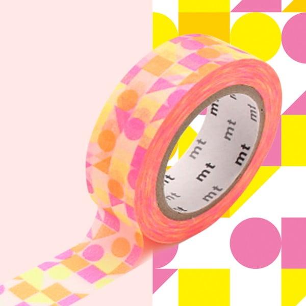 Taśma dekoracyjna washi MT Masking Tape Agnes, dł.10m