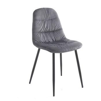 Set 4 scaune Tomasucci Fluffy, gri de la Tomasucci