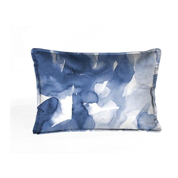 Niebiesko-biała poszewka na poduszkę Velvet Atelier Watercolor, 50x35 cm