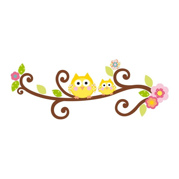 Samolepka Scroll Tree Letter Branch