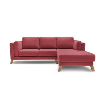 Canapea cu șezlong pe partea dreaptă Bobochic Paris Seattle, roșu