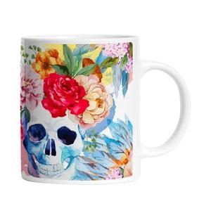 Hrnek Floral Skull, 330 ml