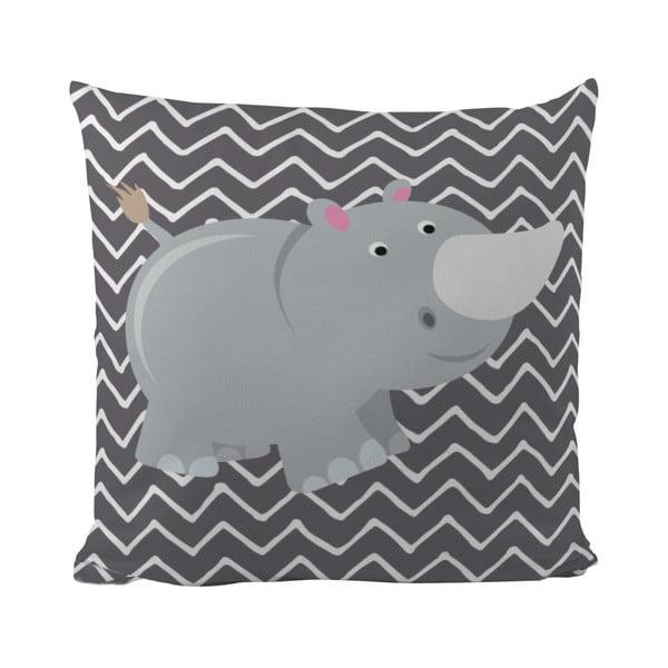 Polštář Rhino in Grey, 50x50 cm