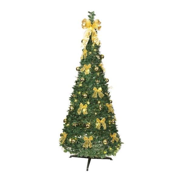 Svítící stromek Gold Christmas, 190 cm