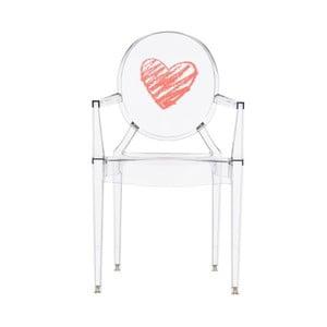 Dětská transparentní židle Kartell Lou Lou Ghost Heart