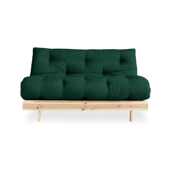 Sofa rozkładana Karup Design Roots Raw/Forest Green
