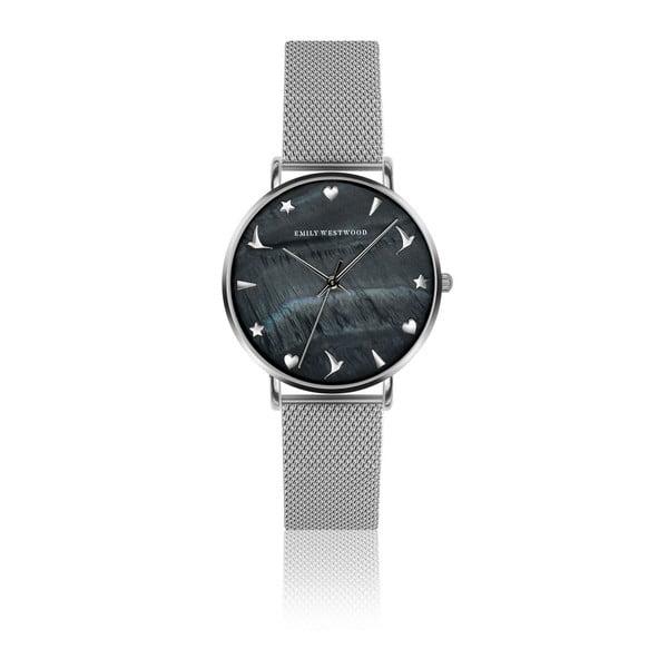 Dámske hodinky s antikoro remienkom v striebornej farbe Emily Westwood Rugho