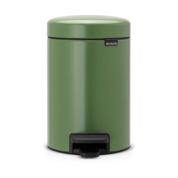 Zelený pedálový odpadkový koš Brabantia Newicon, 3l