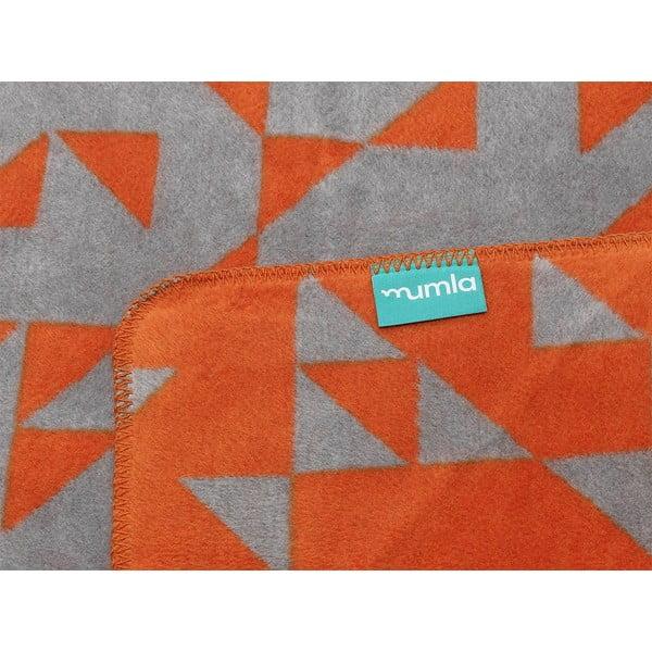 Bavlněná deka Mumla Triangles, 150x200cm