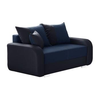 Canapea cu 2 locuri INTERIEUR DE FAMILLE PARIS Destin albastru închis