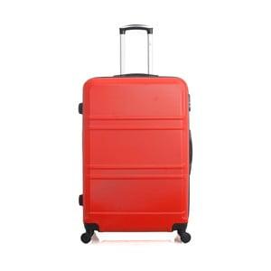 Červený cestovní kufr na kolečkách Hero Utah, 60 l