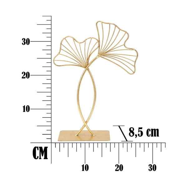 Decorațiune Mauro Ferretti Leaf Glam, înălțime 35 cm, auriu