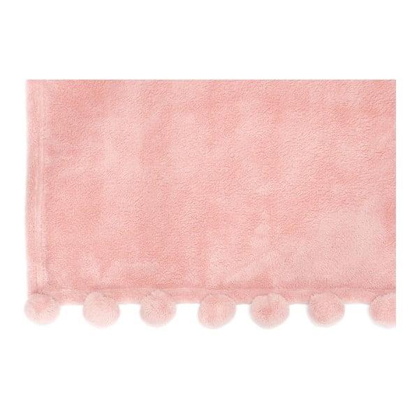 Pléd Pom Pom Pink, 127x152 cm