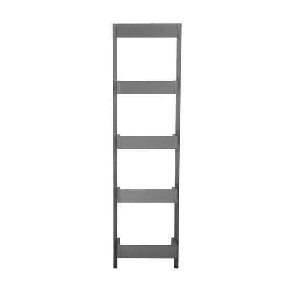 Tmavě šedý opěrný žebřík s policemi Monobeli Amy, výška166cm