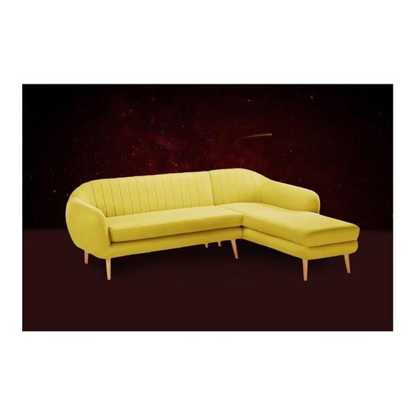 Canapea cu șezlong pe partea dreaptă Comete, galben