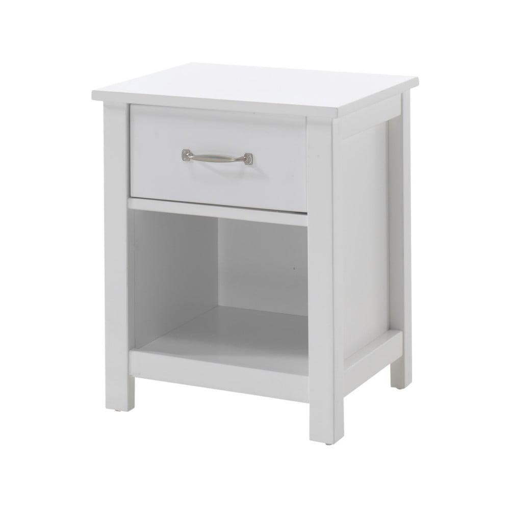 Bílý dětský noční stolek Vipack Stella