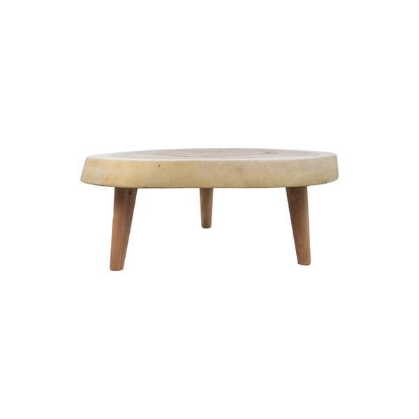 Stolik z drewna munggur HMS collection Lowe, ⌀ 40 cm