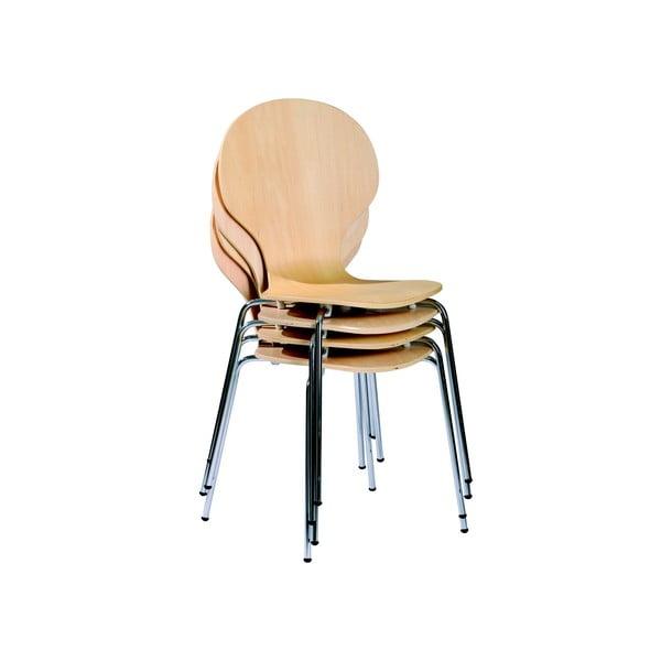 Sada 4 jídelních židlí Mika