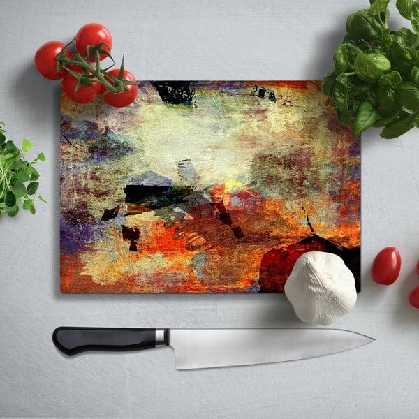 Kolorowa deska do krojenia z utwardzonego szkła Insigne Fatallo, 35x25 cm