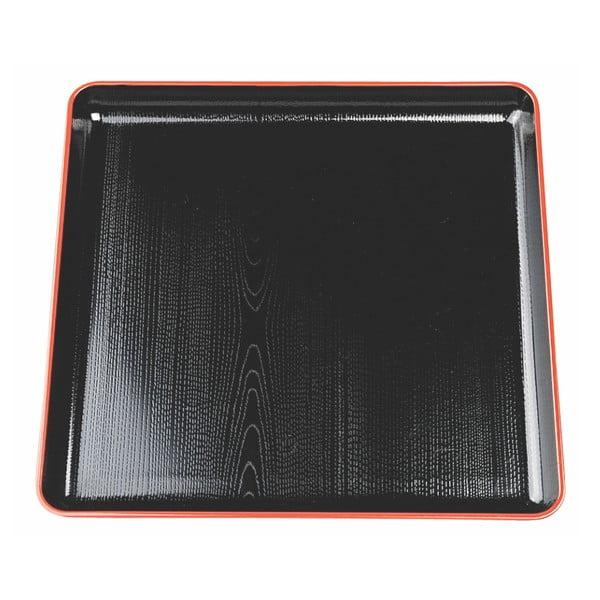 Czarna taca do serwowania Tokyo Design Studio, 30x30 cm
