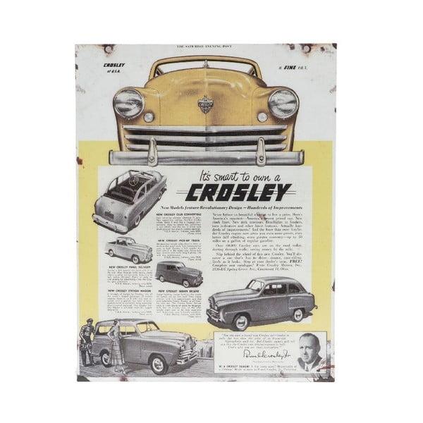 Nástěnná cedule Novita Crosley, 30x40cm