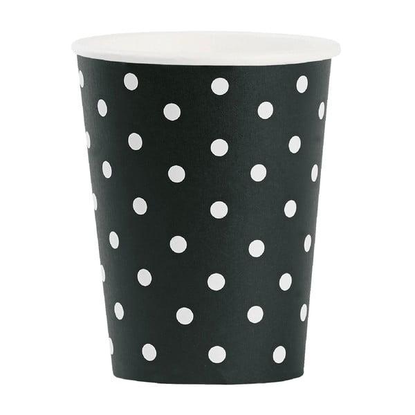 Sada papírových kelímků White Dots, 8 ks