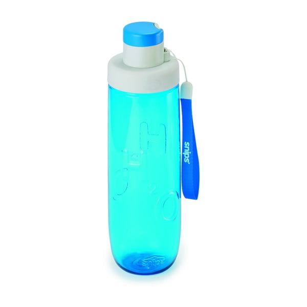 Modrá fľaša na vodu Snips Water, 750 ml