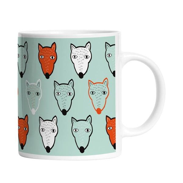 Keramický hrnek Fox Faces, 330 ml